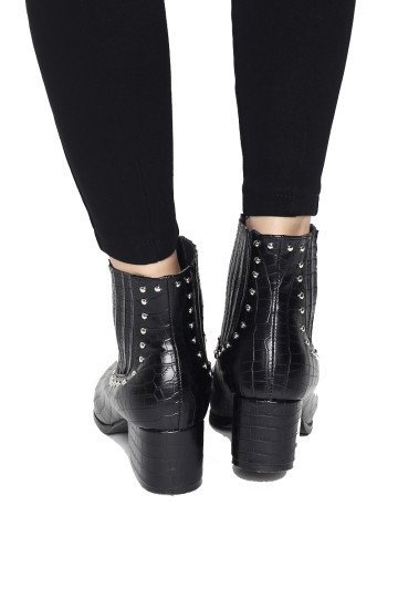 LAURENT ANKLE BOOTS (FAUX CROC SKIN) (BACKORDER) image