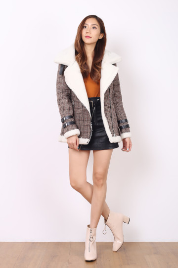 DECKED IN CHECKS WOOLEN JACKET (PREMIUM) image