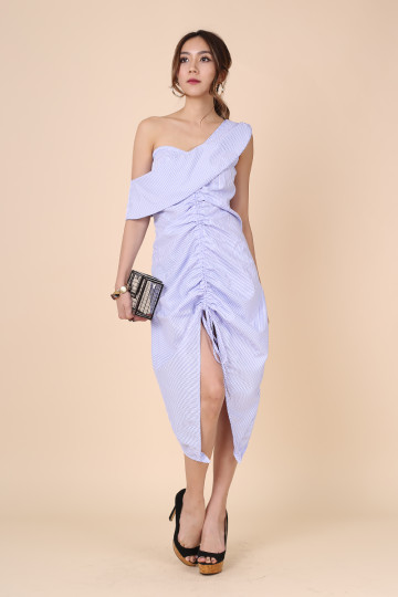 TOGA & FLAT WHITE KINDA DRESS (BLUE STRIPE) (THE JUICE MARKET LABEL) image