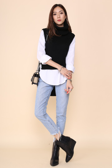 ANNETTE TURTLE NECK SHIRT (BLACK) (BACKORDER)*STAR PICK* image