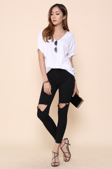 LA EVERYDAY RIPPED JEANS (BACKORDER) image