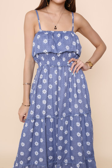 OOPSY DAISY MAXI DRESS (BLUE) image