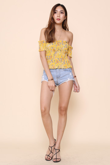 PARC FLORAL DE PARIS OFF-SHOULDER (MUSTARD) image