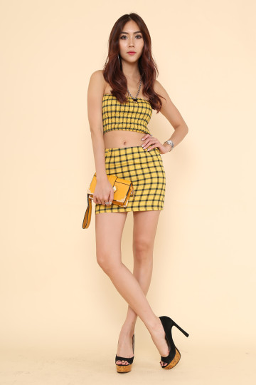 CAROLINA BOX CLUTCH (MUSTARD)(PREORDER) image