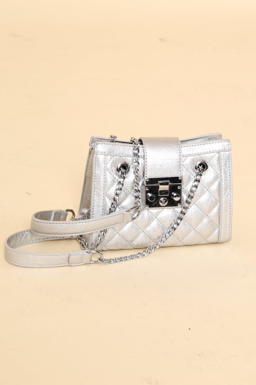 CARRIE SILVER 2-WAY BAG (BACKORDER) image