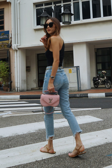 FADED LOVE CUT-OFFS DENIM JEANS (BACKORDER) image