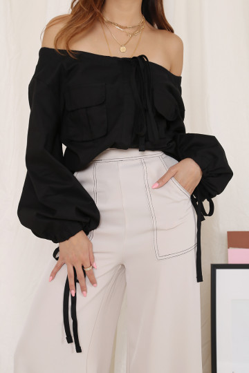 REINVENTION POCKET TOP (BLACK)(PREMIUM) image