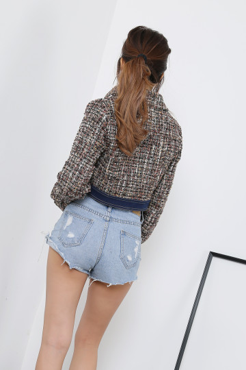 COCO TWEED JACKET (BROWN)(PREMIUM)(BACKORDER) image