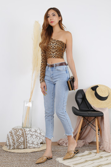 IN THE WILD TOGA TOP (LEOPARD PRINT) image