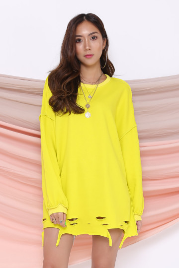 JETSET RIPPED SWEATER (YELLOW) image